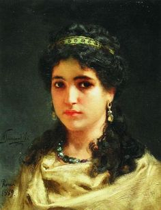 Portrait of a Young Roman Woman - Henryk Siemiradzky  1889