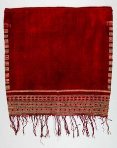 Africa | Shawl ~ tajira ~ from the Berber people living in South Tunisia | 20th century | Wool and cotton