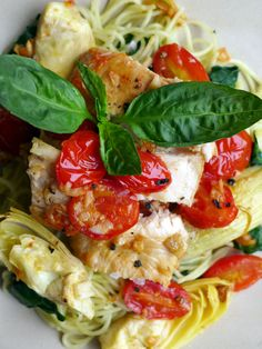 This quick and delicious lemon chicken recipe features blistered tomatoes, artichokes, and baby spinach for an explosion of flavor in every bite. Our Tuscan Lemon Chicken is perfectly portioned for two healthy servings. Add this recipe to your Pinterest and Yummly collections to keep our go-to Mediterranean weight loss recipe within reach. Garnish with freshly ...