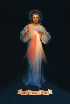 I've fallen in love with this image of Divine Mercy.  It's the restored original from painter Vilnius who she worked with directly.  It's sooo beautiful!