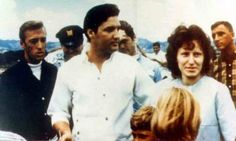 In august 15 1965 Elvis, Vernon and the Colonel visited the USS Arizona in Hawaii. Here with fans and friends.
