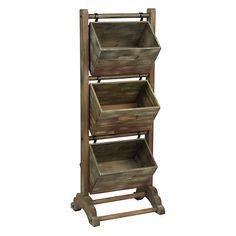 3-Tier Magazine Crate Tower | Kirklands