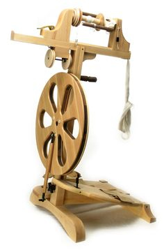 "The ""Revolution"" is here! The Revolution Spinning Wheel is a high end Production Spinning Wheel capable of everyday spinning and much more. Standard Wheel Includes: Paradise Fibers Spinning Wheel with"