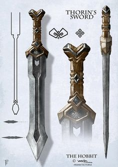 Thorins_Sword_flatFV by Frank Le Picte, via Flickr