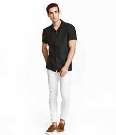 Twill Pants Slim fit | White | Men | H&M US
