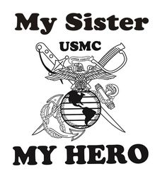 My Sister My Hero Marine Corps Youth T-Shirt | Kids | Military ...