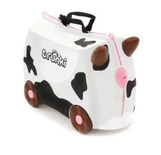 Trunkie Kids Ride on SuitCase Frieda Cow Details Trunki was created to beat the boredom so often suffered by travelling tots Designed to be used as Buy Luggage, Kids Luggage, Hand Luggage, Cow Toys, Kids Ride On, Ride On Toys, Baby Safety, Toys R Us, Toy Store