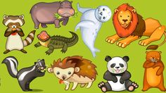 Family Fun Game for Kids | Learn About Animals Names Kids, Toddlers Kids...