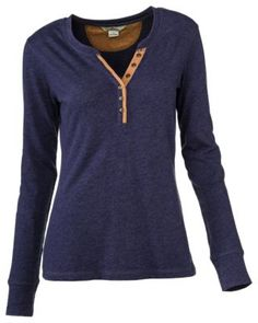 Buy the Bob Timberlake Elbow Patch Henley Shirt for Ladies and more quality Fishing, Hunting and Outdoor gear at Bass Pro Shops. Fall Outfits, Casual Outfits, Cute Outfits, Fashion Outfits, Women's Henley, Henley Shirts, Weekend Wear, Cool Shirts, Autumn Winter Fashion