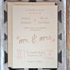 Wedding Invitations . Wedding Invites . Rustic Wedding by DeanPenn, $2.50