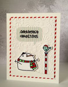 Card by SPARKS DT Jamie Greene PS stamp sets:Swanky Snowdudes; PS die: Snowdudes and Word Bubbles