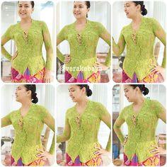 verakebaya Vera Kebaya, Kebaya Lace, Kebaya Dress, Batik Dress, Lace Dress, Myanmar Dress Design, Model Kebaya, Brokat, Woman Fashion