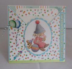 Criss Cross Karte zum Geburtstag für kleine Kinde, handgemacht von KartengalerieDoris auf Etsy Scrapbook, Criss Cross, Etsy, Phone, Frame, Birthday Party Invitations, Handmade Birthday Cards, Worth It, Balloons