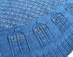 TARDIS ~ Bigger on the Inside Shawl knitting pattern