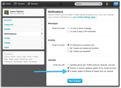 How to unsubscribe from the weekly Twitter digest e-mail