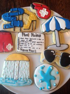 Lifeguard / Pool Sugar Cookies