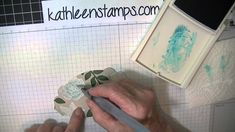 Whitewash stamping technique using Stampin' Up! products