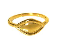 Chevaglier Solid 18K Gold Ring Stackable Yellow Gold Signet Ring Simply Chic Gold Stacking  Ring Contemporary Greek Jewelry Fine Jewelry