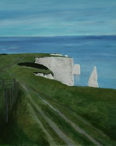 Old Harry Rocks, Dorset. (Original art by Robert Harris)