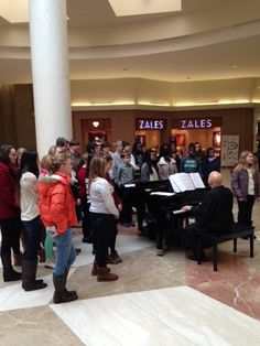 Pictures from Seton Catholic Central performance by Select Choir, featured soloists, and ensemble groups under the direction of Jan De Angelo at The Oakdale mall on Sunday in Honor of Catholic Schools Week.