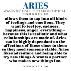 Zodiac Files: Aries Ideal Relationship.
