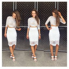 Intuition Two Piece Lace Set - White