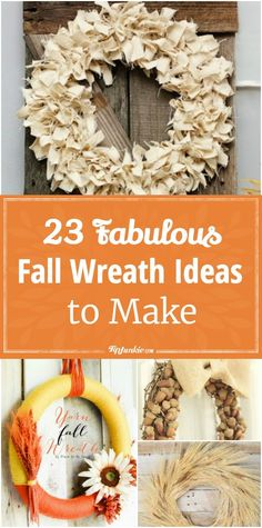 Learn how to make a wreath with these pictured tutorials. Wreath making for Fall or Autumn or any season. You''ll find front door decorations to make using… Christmas Vinyl, Christmas Paper Crafts, Easy Paper Crafts, Thanksgiving Crafts, Fall Crafts, Holiday Crafts, Diy Crafts, Holiday Fun, Holiday Ideas