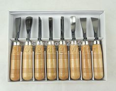 ücretsiz kargo 8 adet sekiz çeşit ahşap oymacılığı araçları kürek bıçak el yapımı ahşap oyma bıçağı