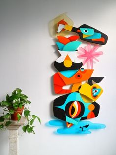 Sculpture Painting, 3d Painting, Wall Sculptures, Graffiti Art, Murals Street Art, Cubist Art, Abstract Art, Art Environnemental, Mural Wall Art