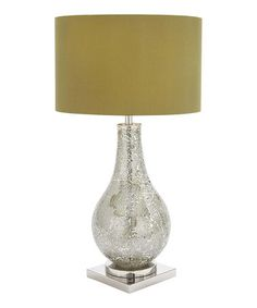Silver Glass Table Lamp #zulilyfinds