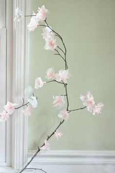 We've talked about using paper decorations to punch up a last minute party, but there are ways that you can incorporate paper into your everyday décor as well. My favorite paper creations of late are tissue paper cherry blossoms, which are as pretty as they are easy to make. Tissue Paper Flowers, Origami Flowers, Diy Flowers, Fabric Flowers, Cherry Blossom Wedding, Cherry Blossom Tree, Blossom Trees, Diy Paper, Paper Crafts