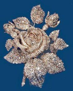 Sparkly Rose Brooch