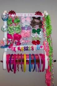 New Hair Accessories Storage Ideas Head Bands Ideas Organizing Hair Accessories, Girls Hair Accessories, Bow Hair Clips, Hair Bows, Bow Clip, Ribbon Hair, Hair Product Organization, Organization Ideas, Storage Ideas