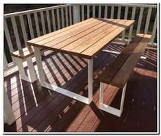 outdoor wooden dining table and chairs-#outdoor #wooden #dining #table #and #chairs Please Click Link To Find More Reference,,, ENJOY!! Outdoor Sofa Sets, Outdoor Bench Table, Wooden Bench Table, Dining Table Bench Seat, Wooden Garden Table, Timber Dining Table, Wood Patio, Patio Chairs, Outdoor Chairs