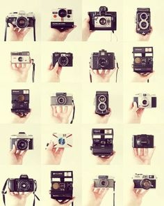 I love film cameras, I own a camera & a polaroid Antique Cameras, Vintage Cameras, Dslr Photography Tips, Film Photography, Photography Backgrounds, School Photography, Vintage Photography, Street Photography, Landscape Photography