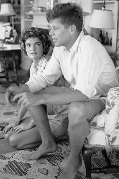 Senator John F. Kennedy and fiance Jacqueline Bouvier are interviewed for a LIFE Magazine story while on vacation at the Kennedy compound in June 1953 in Hyannis Port, Massachusetts. Get premium, high resolution news photos at Getty Images