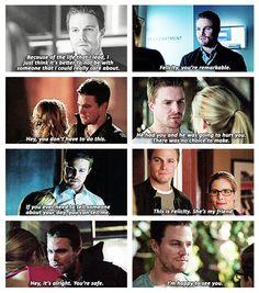 Arrow - Oliver Queen. Felicity Smoak. #Olicity #StephenAmell #EmilyBettRickards
