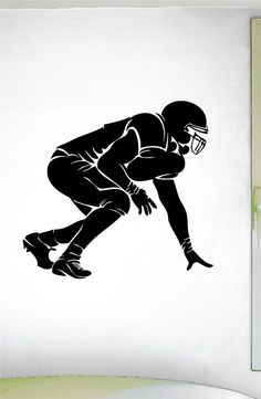 Football O Lineman Wall Decal - 0303 - Football Theme Decal - Sports Decal - Offense - Defense - 3 Point Stance Wall Stickers Sports, Wall Stickers Murals, Vinyl Wall Decals, Football Wall, Football Themes, Football Info, Football Posters, Football Quotes, Football Program