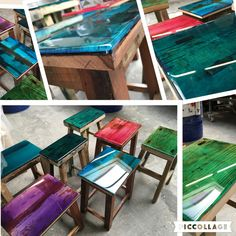 Pimp Your vintage interior with coloured resin for a complete new unique look