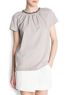 Crystal embellished blouse