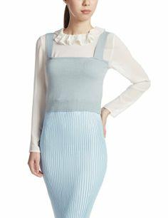 Amazon.co.jp: (スナイデル)snidel ニットビスチェ × フリルトップスセット: 服&ファッション小物