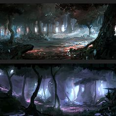 "A few compositions i did for the animation project ""Myth"""