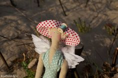 Tilda Doll Princess Needlecraft Blonde Hat by RoyalHandicrafts Gingham Fabric, Blue Gingham, Polka Dot Shoes, Fabric Gift Bags, Ribbon Bows, Handicraft, Winter Hats, Teddy Bear, Quilts