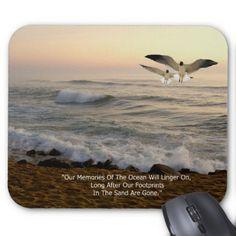 GULLS & OCEAN QUOTE MOUSE PAD - quote pun meme quotes diy custom