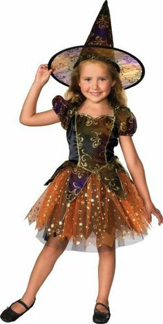 Elegant Witch Girl's Costume. Choose this fun polyester Elegant Witch Girl's Costume and be ready to trick-or-treat, enter a costume conte. Toddler Witch Costumes, Halloween Costumes For Girls, Girl Costumes, Little Girl Witch Costume, Diy Witch Costume, Animal Costumes, Group Costumes, Witch Fancy Dress, Witch Dress