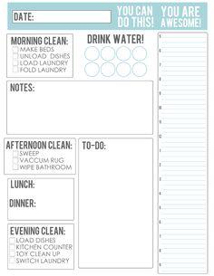 TheBusyBudgetingMama-Daily Schedule