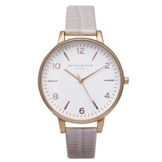 hardtofind. | Olivia Burton rose gold & pearl pink croc patterned leather watch