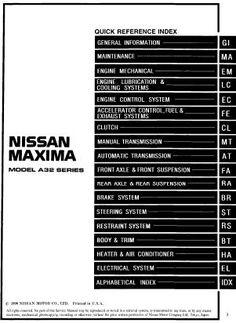 1996 nissan sentra200sx service repair manual nissan service 1997 nissan maxima repair manual sciox Image collections