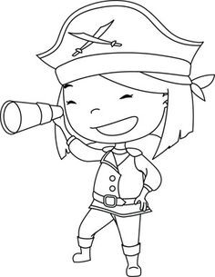Girls Can Be Anything Paper Dolls App Jack Le Pirate, Pirate Day, Pirate Life, Pirate Birthday, Preschool Pirate Theme, Pirate Activities, Pirate Coloring Pages, Free Coloring Pages, Colouring Pics