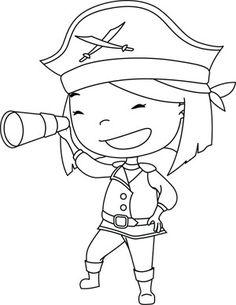 Gigi: Pirate - free downloadable coloring page